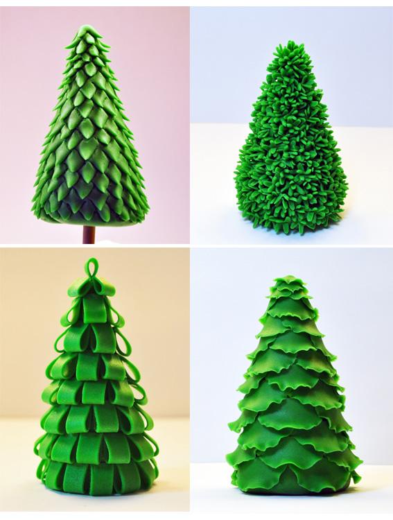 Decorazioni Natalizie X Dolci.Tutorial Per Creare Alberi Di Natale In Pasta Di Zucchero Bakershop