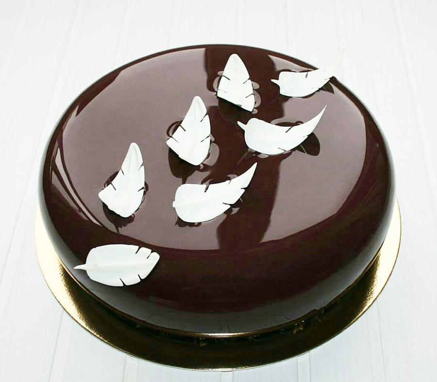 Torta A Specchio.Glassa A Specchio Al Cioccolato Scuro 1kg Bakershop
